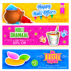 Holi banner for sale and promotion