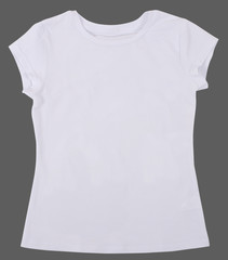 Women's shirt Isolated on gray background.