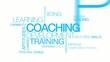 Coaching development training tag cloud video animation