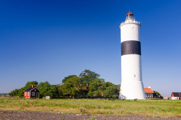 Ottenby lighthouse in summer season
