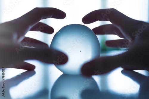 Leinwanddruck Bild voyance boule
