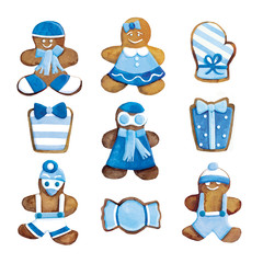 hristmas cookies - funny decorated