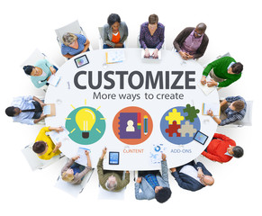 Customize Ideas Identity Individuality Innovation Concept