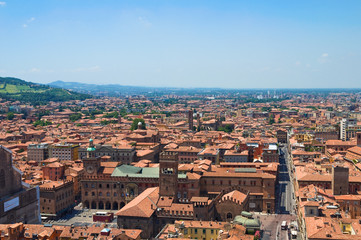 Panoramic view of Bologna. Emilia-Romagna. Italy.