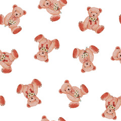 可愛い熊の柄