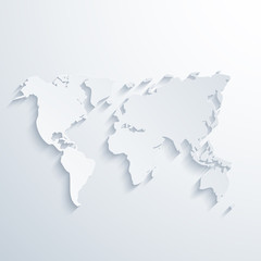 Vector modern map with long shadow.