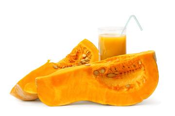 chunks of pumpkin and pumpkin juice