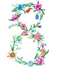 Women day spring illustration