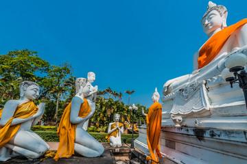 buddha statues Wat Yai Chai Mongkhon Ayutthaya bangkok Thailand