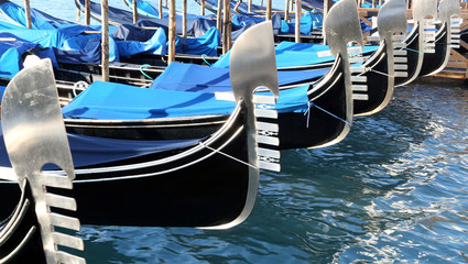 gondolas near St. Mark's square in Venice