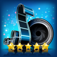 Film, stars and camera lens