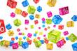 Zdjęcia na płótnie, fototapety, obrazy : falling percent cubes - colorful