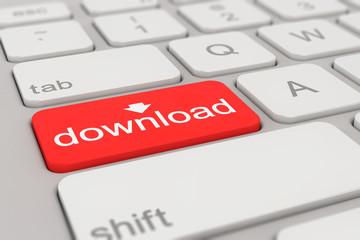 keyboard - download - red