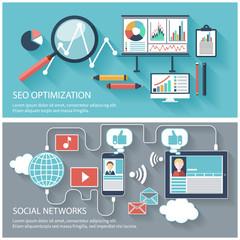 SEO optimization and social network