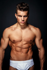 Awesome male model with muscular torso.