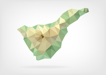 Low Poly map of Tenerife Island