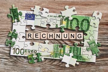 Geldscheinpuzzle - Rechnung