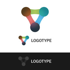 Abstract colorful shape logo