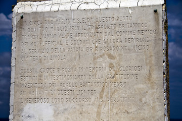 Punta Predani (Bergeggi), Monumento ai caduti del Transylvania