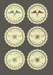 Vector set of aviator icons
