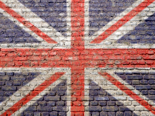 UK flag painted on wall