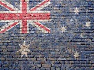 Australia flag painted on wall