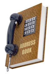 Phone and Address Book Concept - 3D