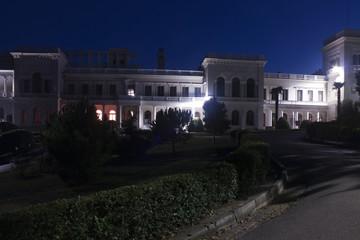 Livadia royal palace at night