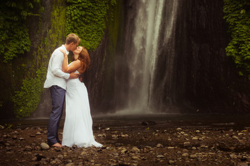 couple travels to Bali