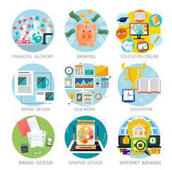 Financial alchemy, education, graphic design