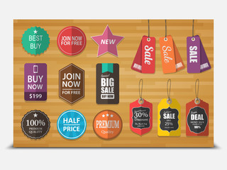 Set of tags for sale,vector