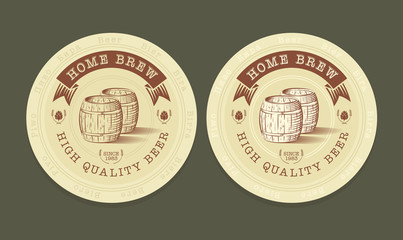 Vector illustration of beer tags