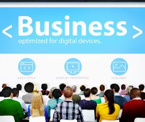 Global Business Commerce Organization Seminar Concept