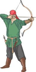 Vector archer.