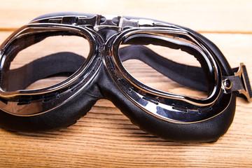 Motorcycles, pilot retro goggles
