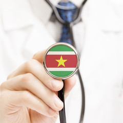 National flag on stethoscope conceptual series - Republic of Sur