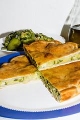 tiella zucchini pancetta e formaggi