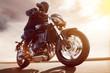 Motorbike at Sunset