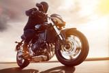 Motorbike at Sunset - 78696341