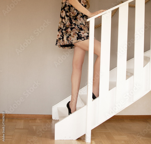 canvas print picture Sexy long legs
