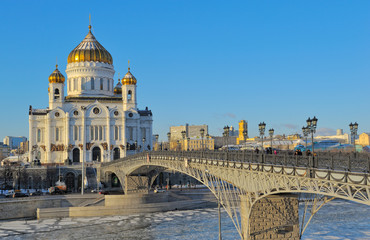 Cathedral of Christ the Savior and the Patriarchal bridge