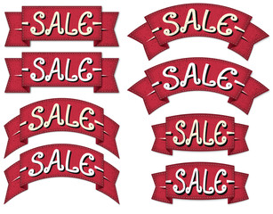 Sale ribbon set