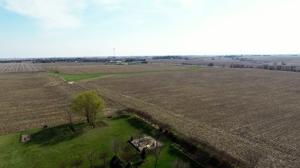 Aerial agriculture farm field landscape