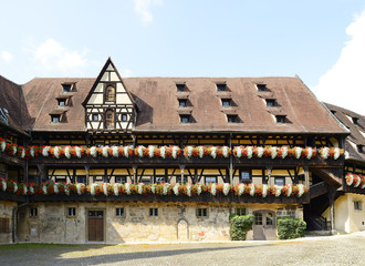 Old Court Bamberg (Alte Hofhaltung), half-timbered buildings