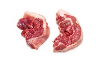 Goat meat leg steaks