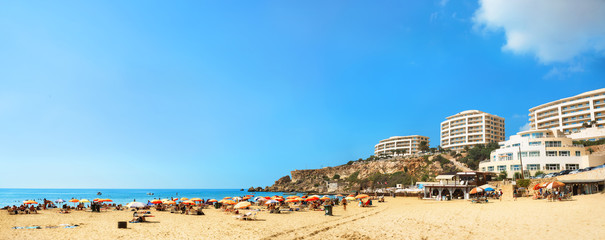 Famous beach Golden Bay in Malta