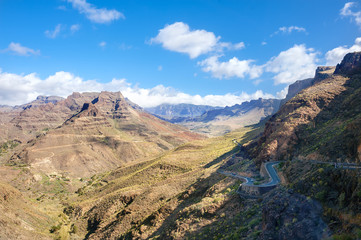 Mountain landscape in Gran Canaria