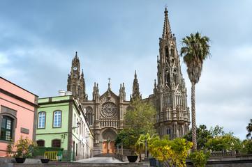 Gothic cathedral of San Juan Bautista in Arucas, Gran Canaria, S
