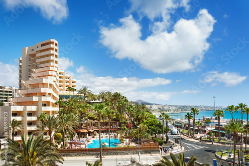 Resort town Playa del Ingles. Maspalomas. Gran Canaria.