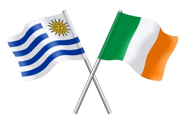 Flags: Uruguay and Ireland